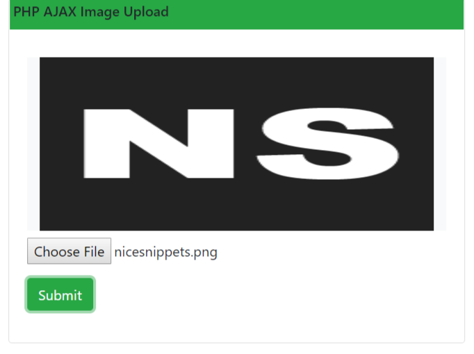 PHP Ajax Image Upload With Preview Example
