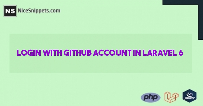Login with Github Account in Laravel 6