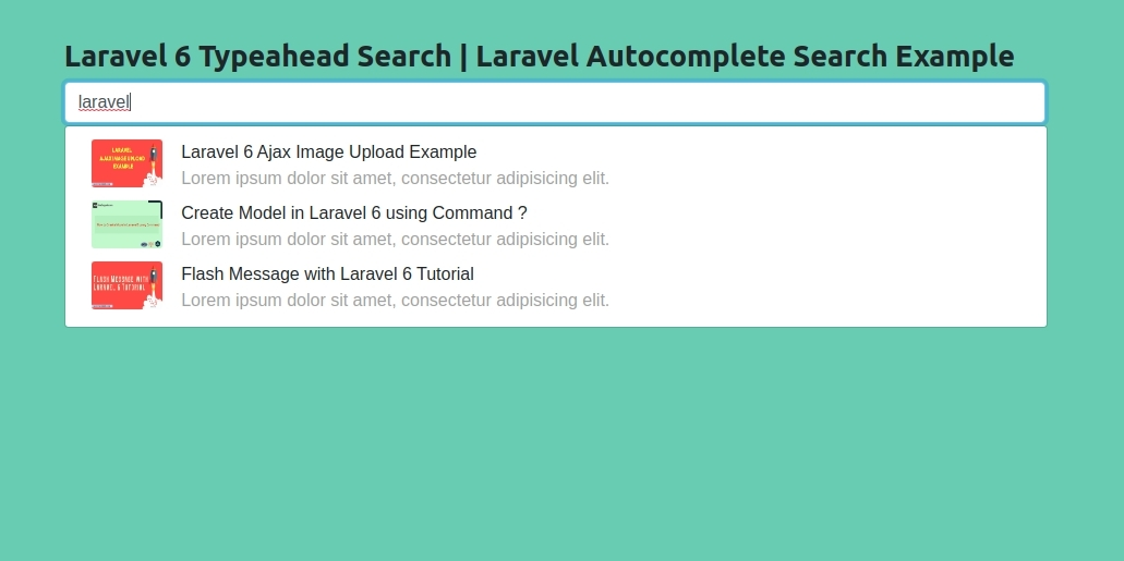 Laravel 6 Typeahead Search | Laravel Autocomplete Search Example