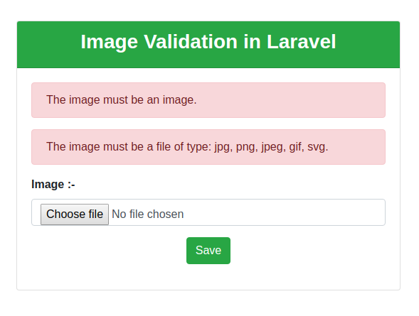 Image Validation in Laravel