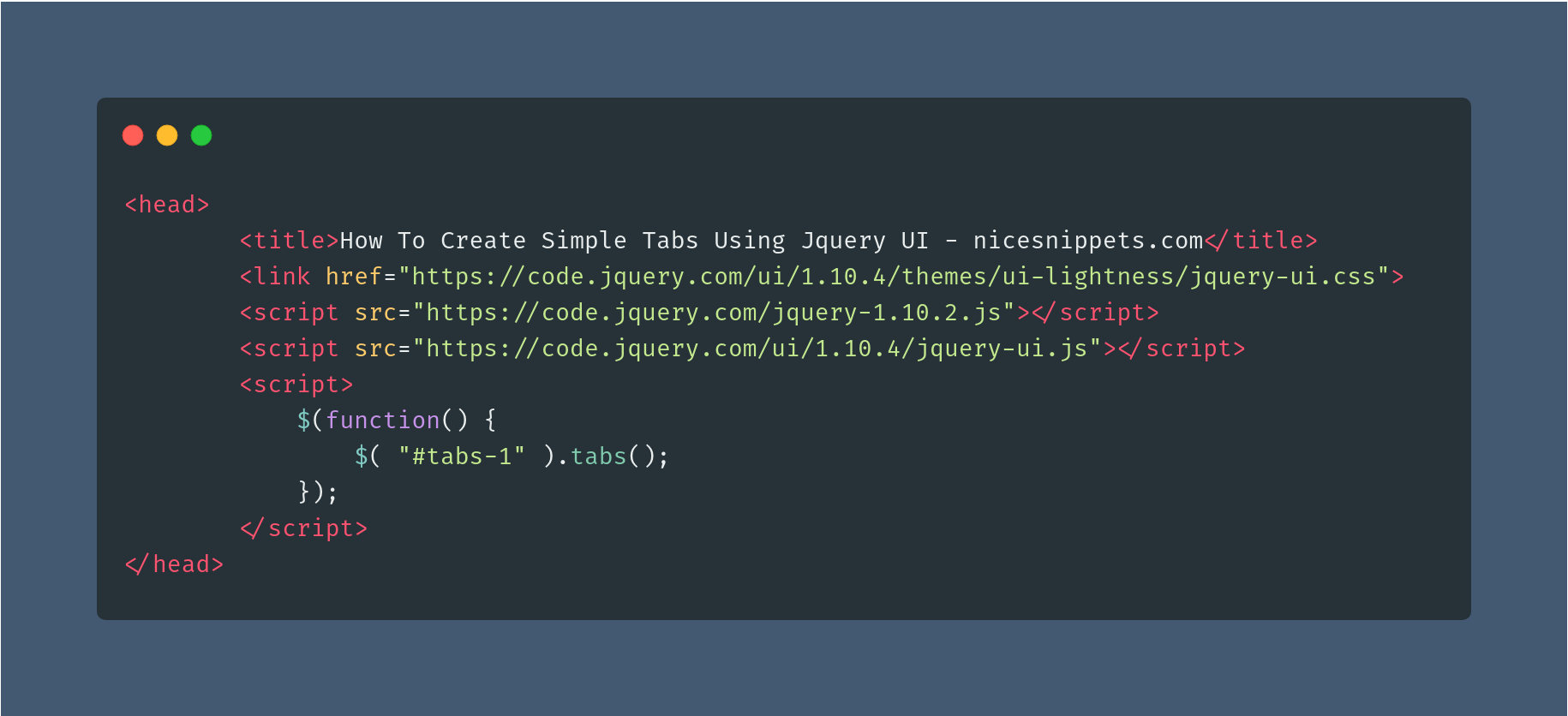 How To Create Simple Tabs Using Jquery UI?