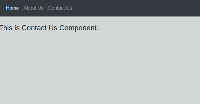Reactjs Basic Routing Example With Component