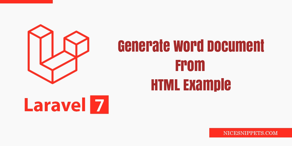 Laravel 7 Generate Word Document From HTML Example
