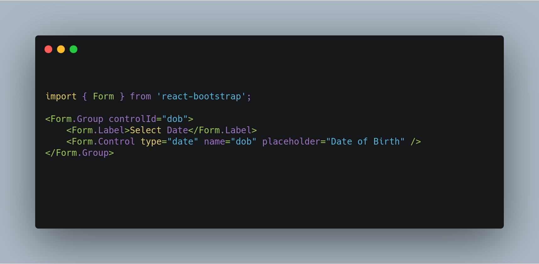 React Bootstrap Datepicker Example