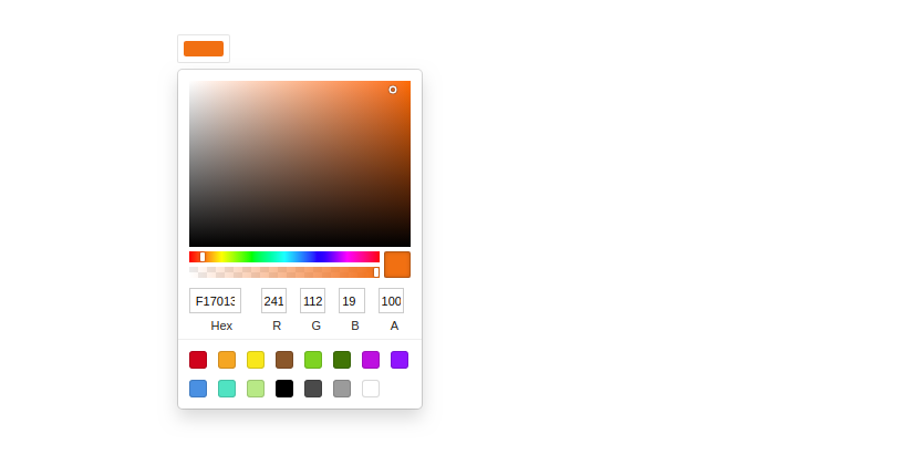React Color Picker Example With Change Event