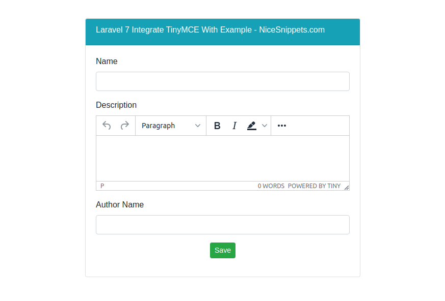 How To Use TinyMCE Editor In Laravel ?