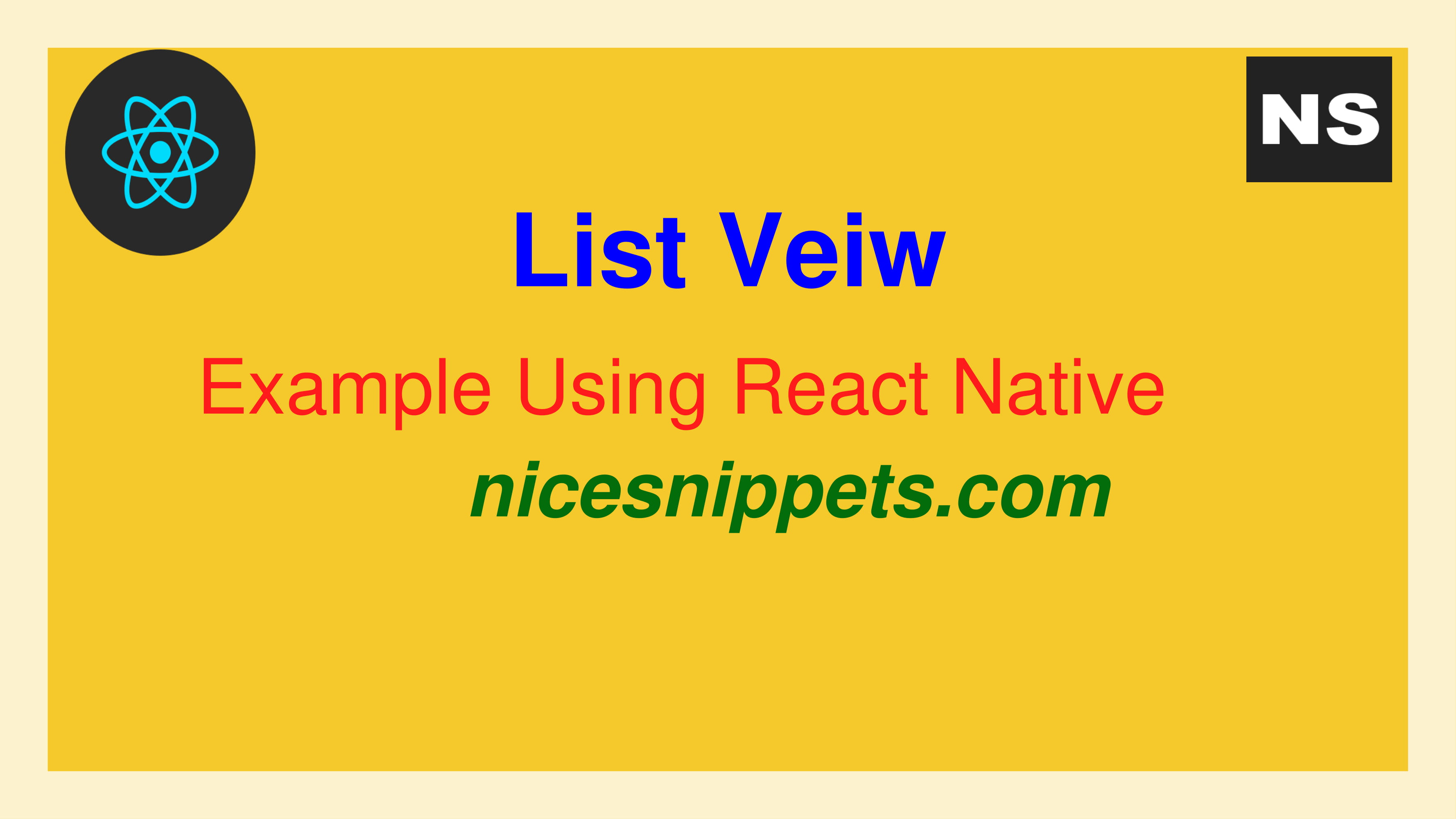 List View Example Using React Native