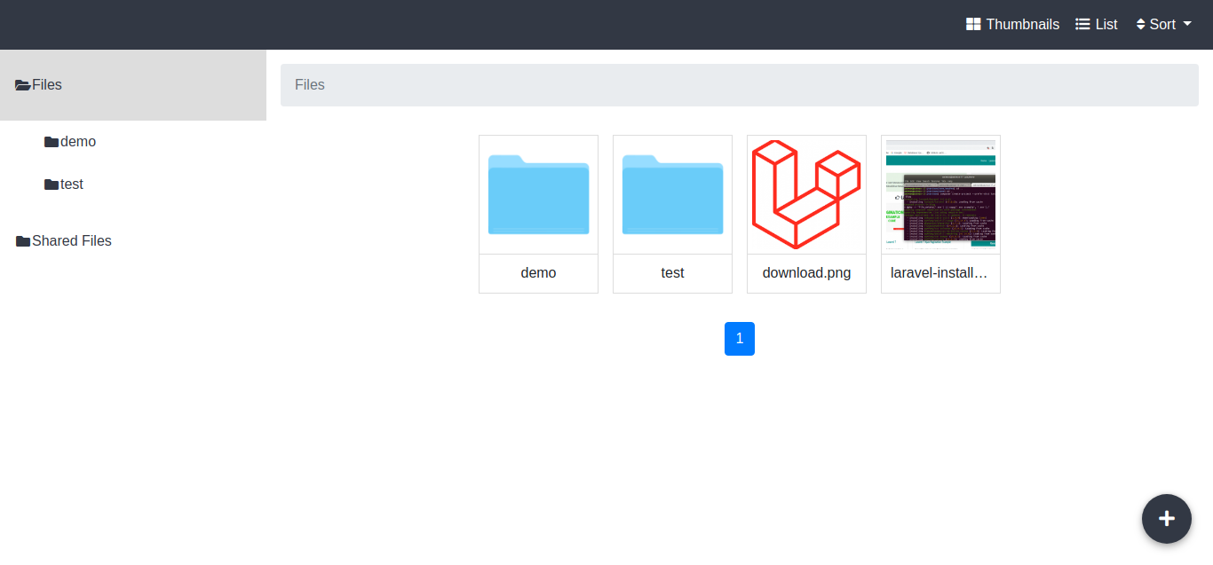 Laravel File Manager Tutorial Example