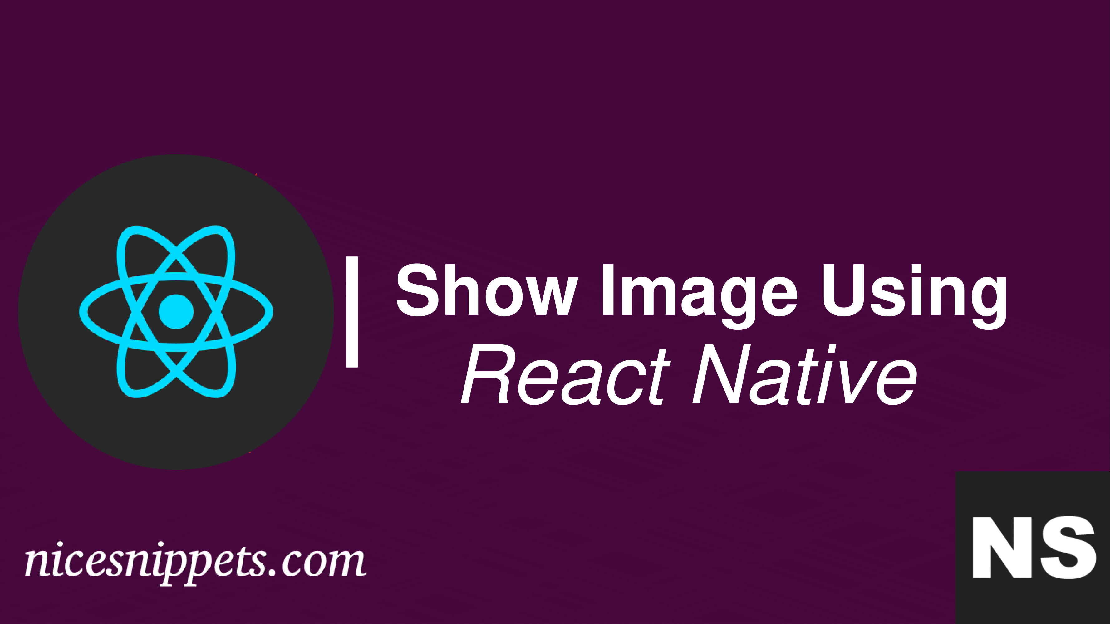 How to Show Image Using React Native?