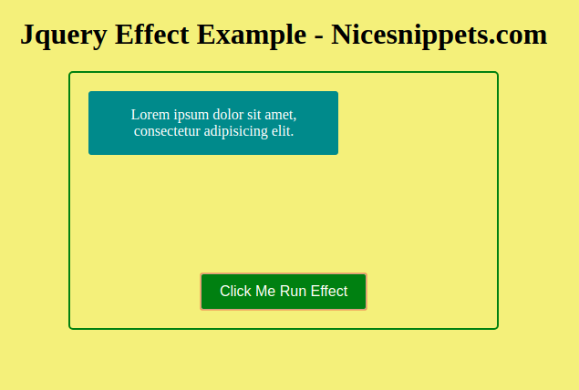 Jquery UI Effect Tutorial | Jquery Effect Example