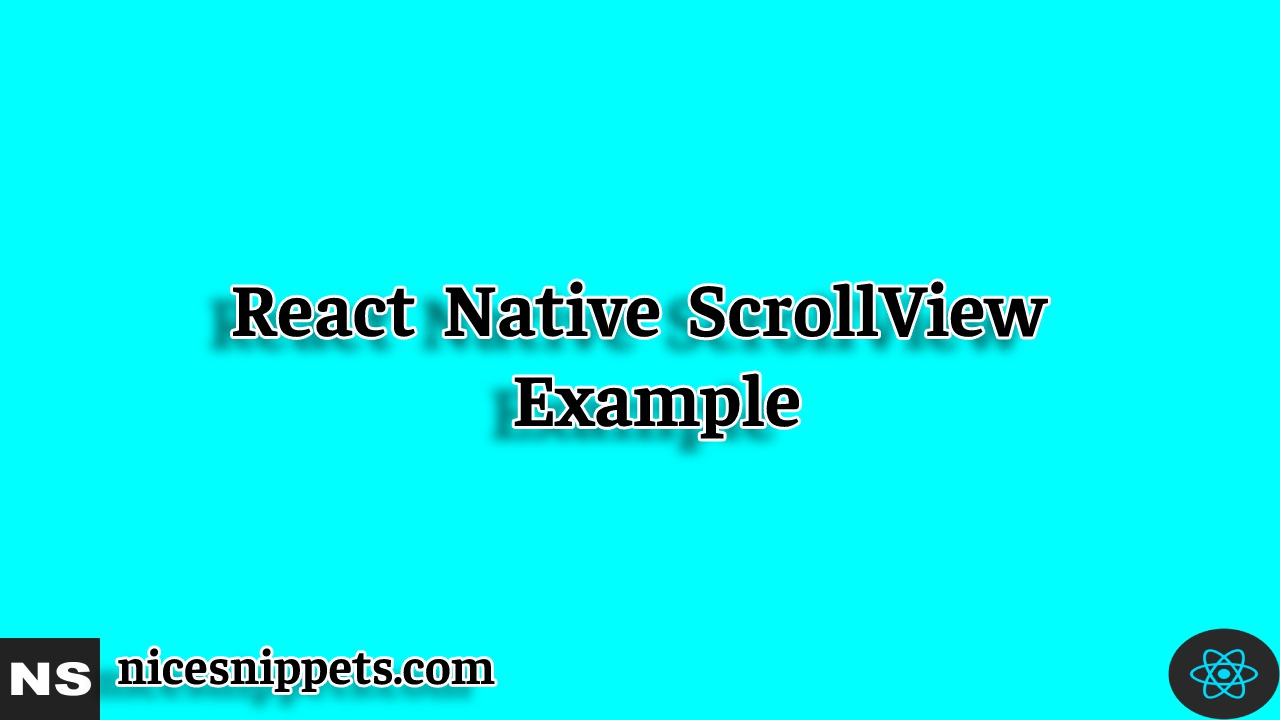 React Native ScrollView Example