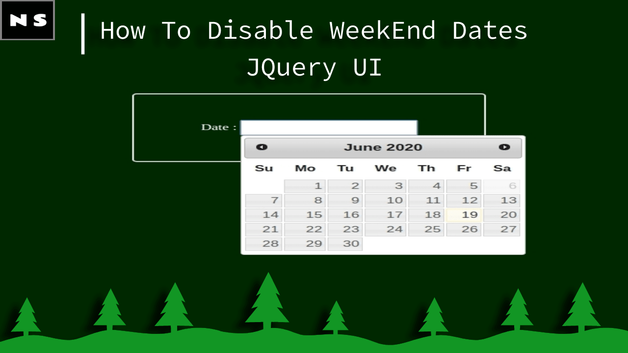 How To Disable WeekEnd Dates in JQuery UI Datepicker?