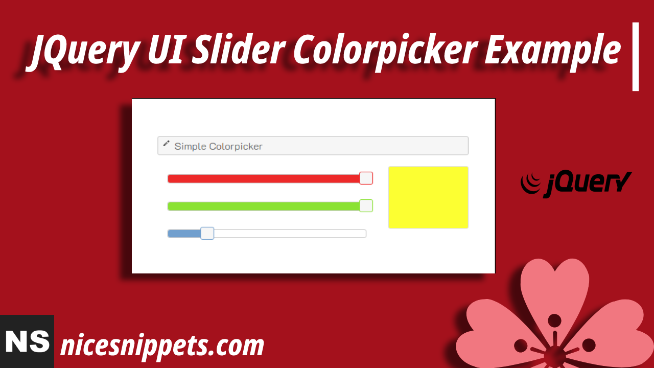 JQuery UI Slider Colorpicker Example