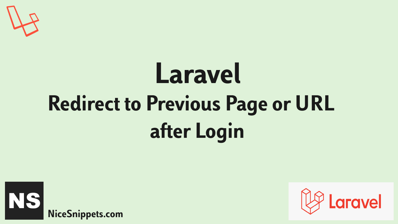Redirect to Previous Page or URL after Login Laravel