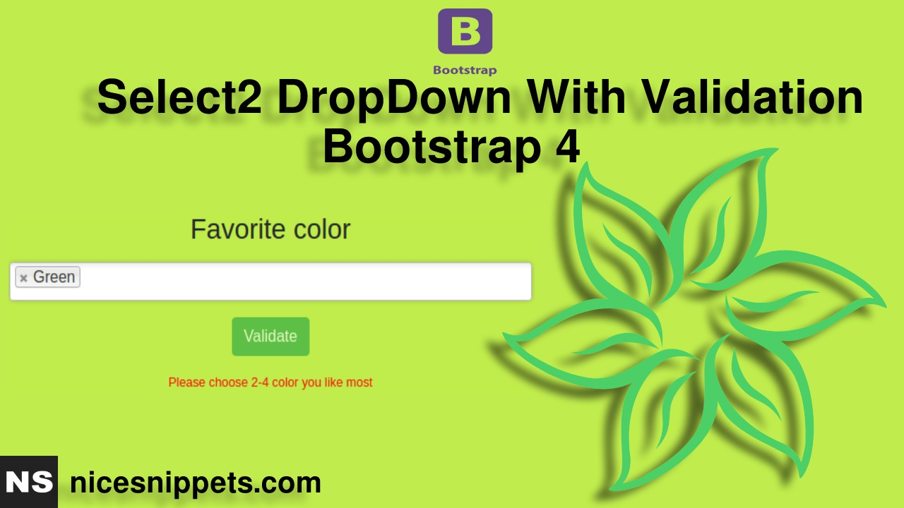 Select2 DropDown With Validation Example Bootstrap 4