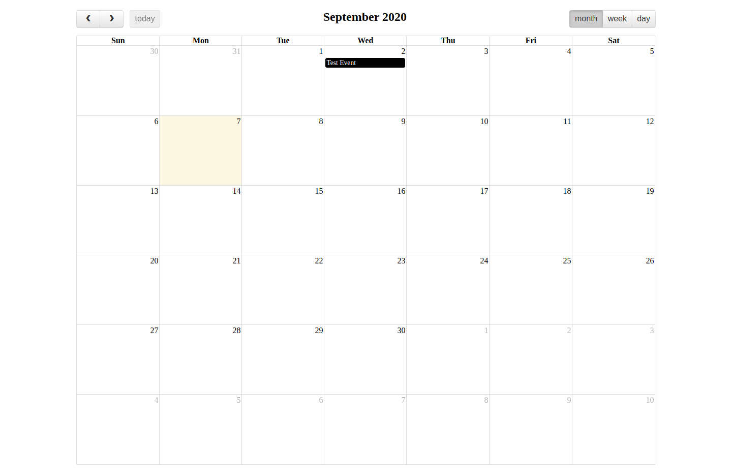 Fullcalendar Change Event color Dynamically Example