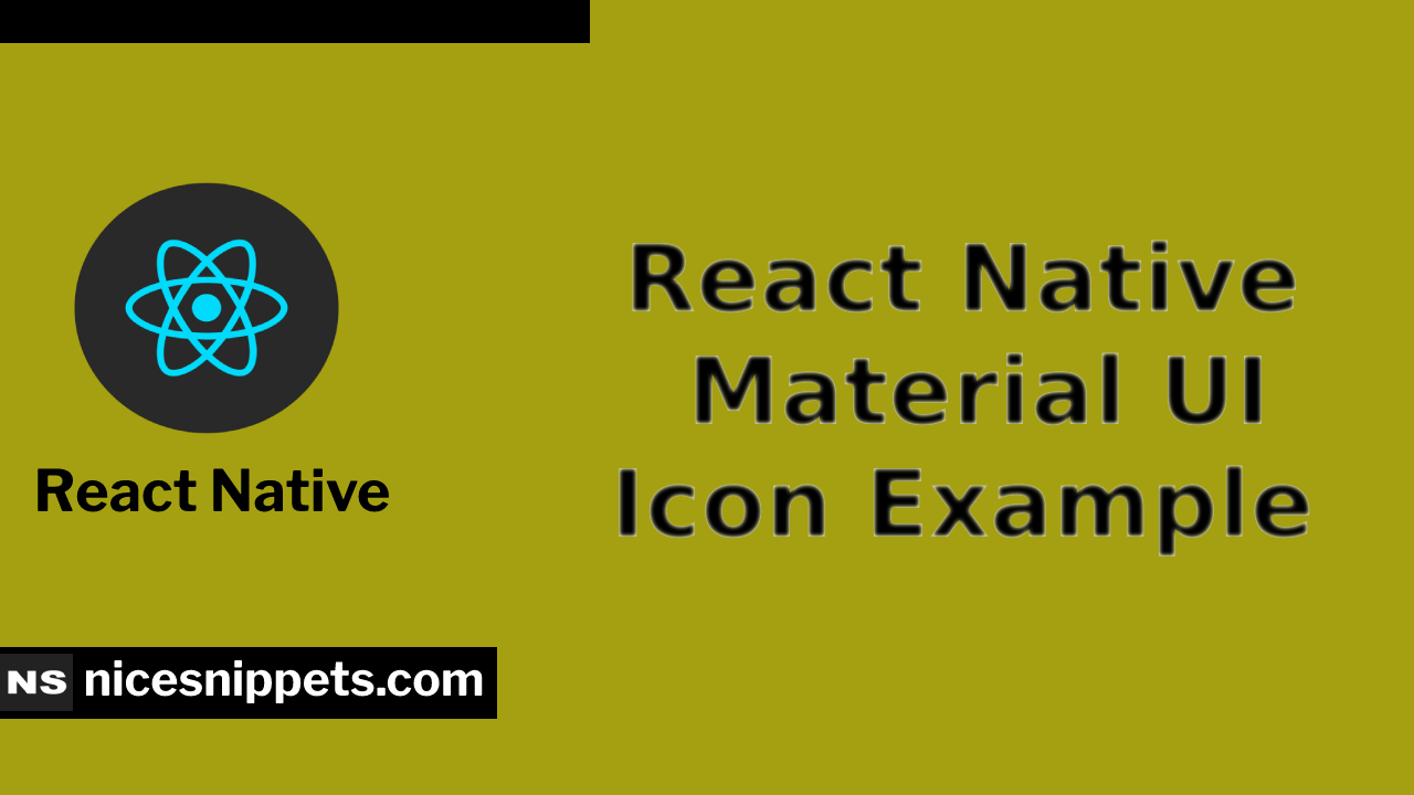 React Native Material UI Icon Example