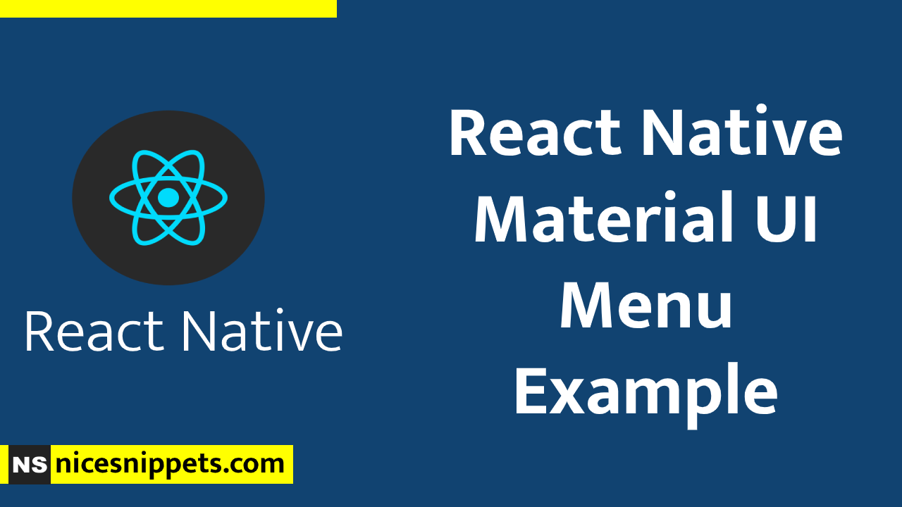 React Native Material UI Menu Example