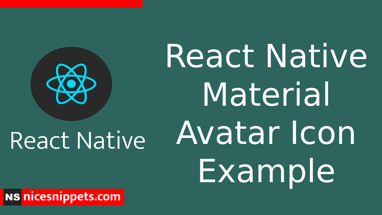 React Native Material Avatar Icon Example