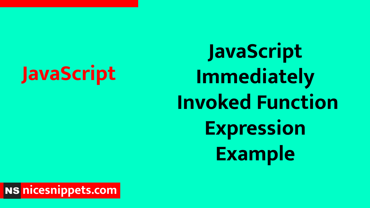 JavaScript Immediately Invoked Function Expression Example