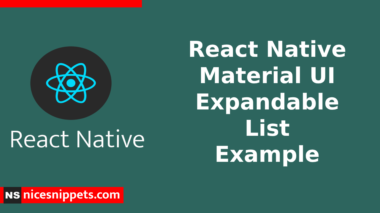 React Native Material Expandable List Example
