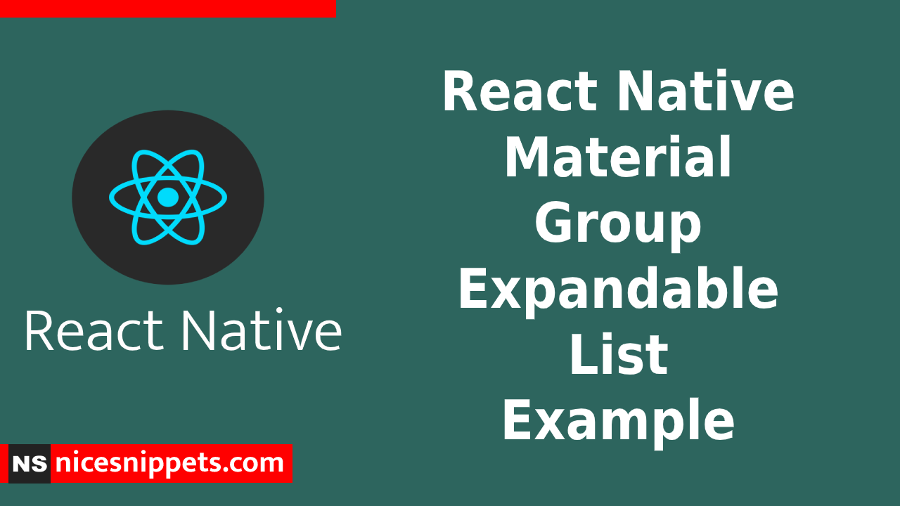 React Native Material Group Expandable List Example