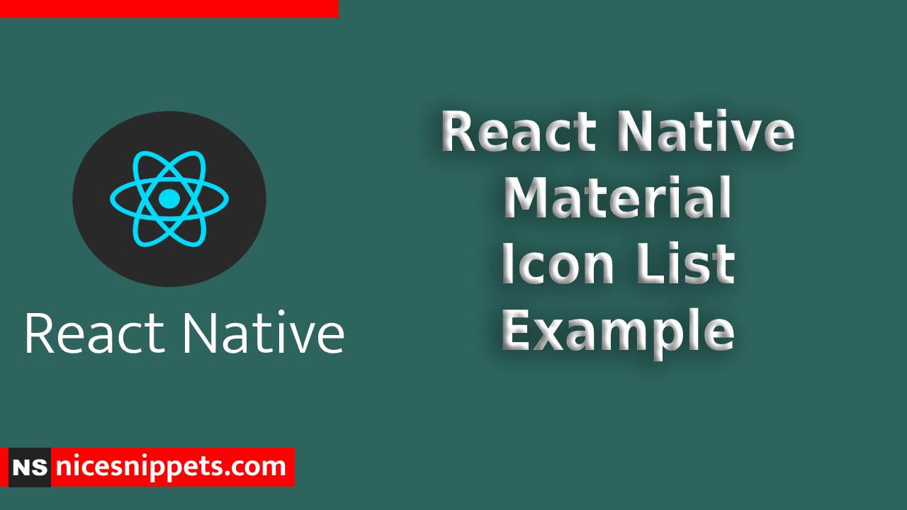 React Native Material Icon List Example