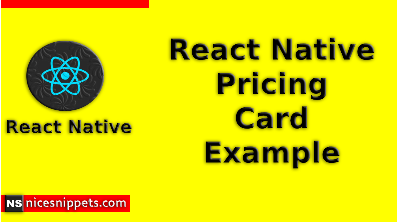 React Native Pricing Card Example