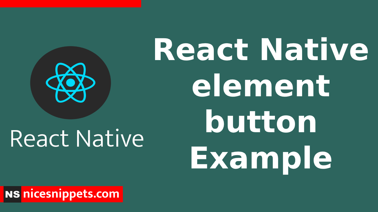 React Native element button Example