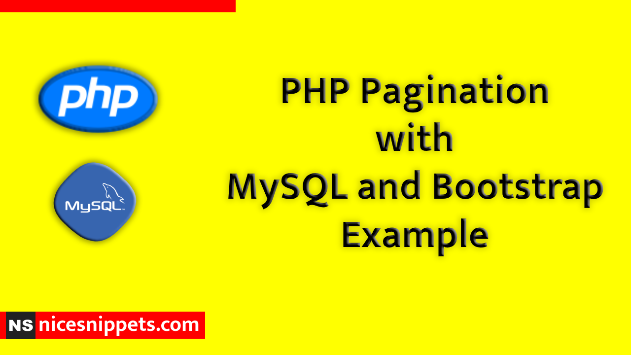 PHP Pagination with MySQL and Bootstrap Example