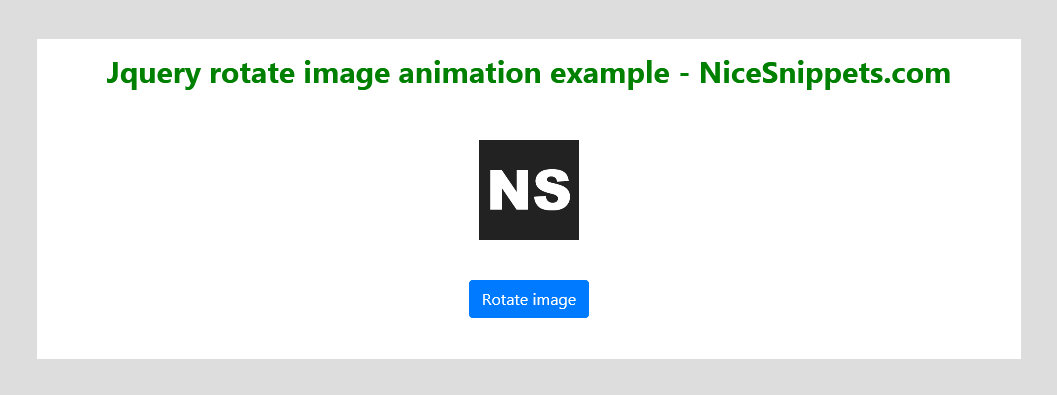 JQuery Rotate Image Animation Example