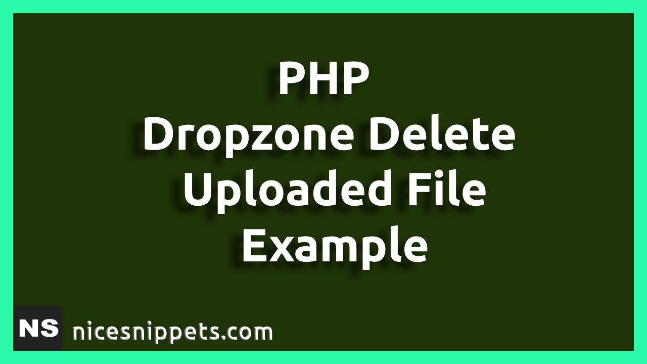 PHP Dropzone Delete Uploaded File Example