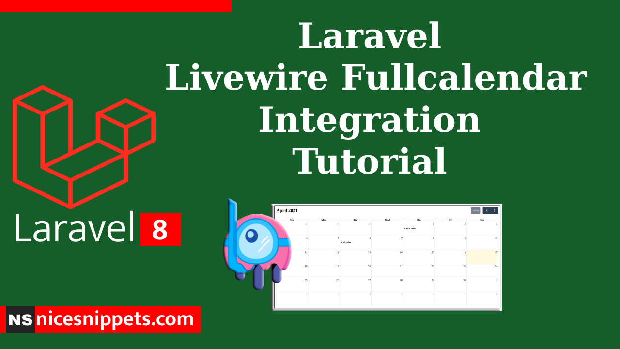 Laravel Livewire Fullcalendar Integration Tutorial