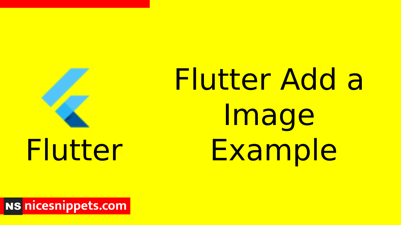 How to Add Image In Flutter?