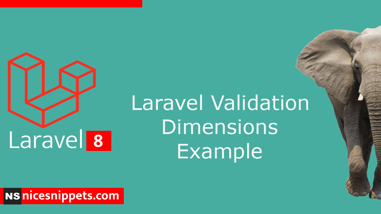 Laravel Validation Dimensions Example