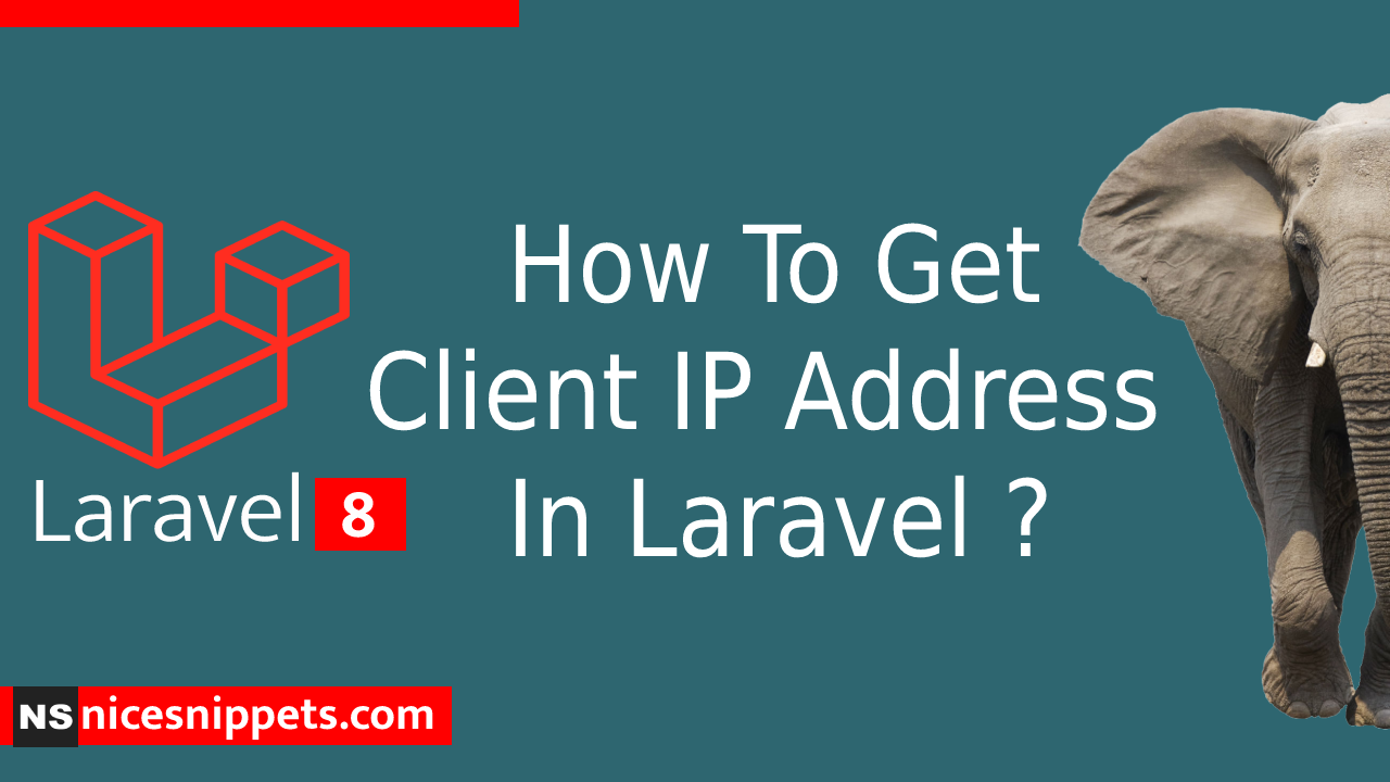 How To Get Client IP Address In Laravel ?