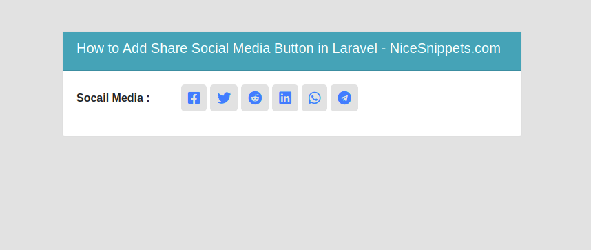 How To Add Share Social Media Button In Laravel?