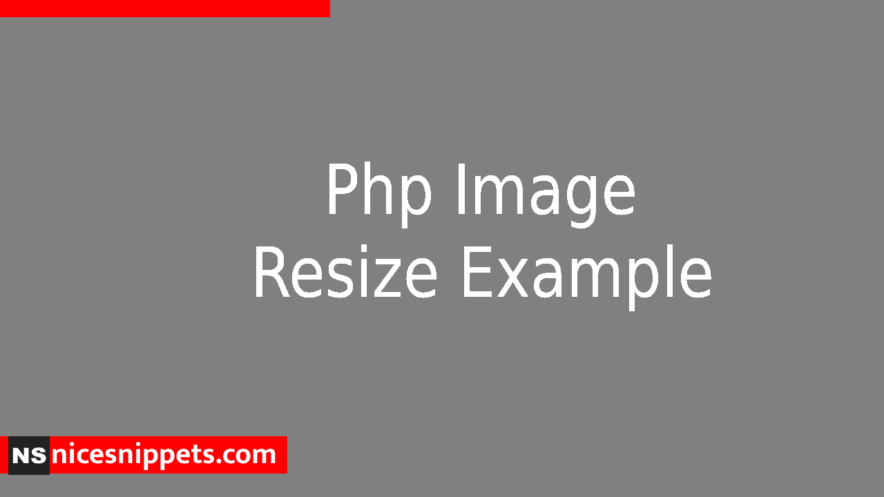 Php Image Resize Example