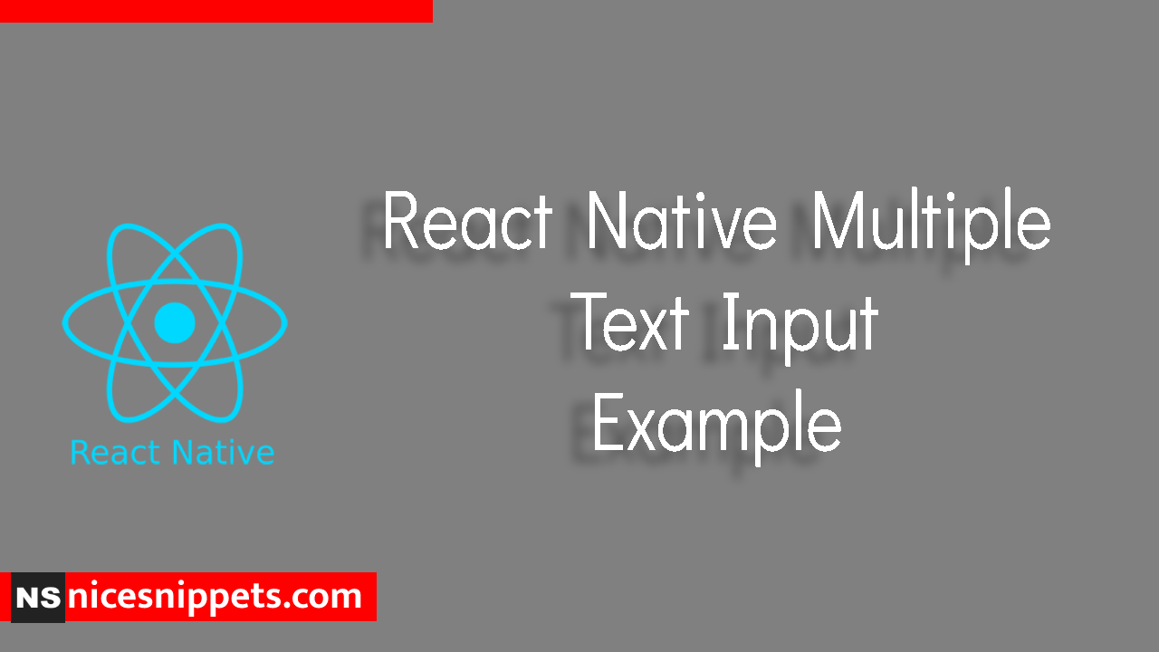 React Native Multiple Text Input Example