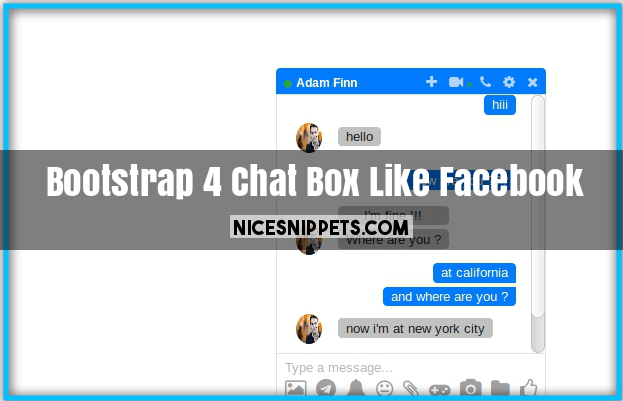 Bootstrap 4 Chat Box Design Like Facebook