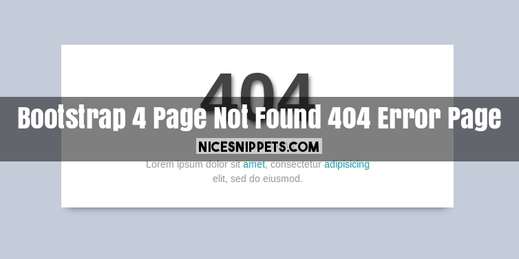 Bootstrap 4 page not found 404 error page design in bootstrap 403 page template snippet i give you three tab with html css and js you can easily get code of 404 error page html code layout maxwellsz