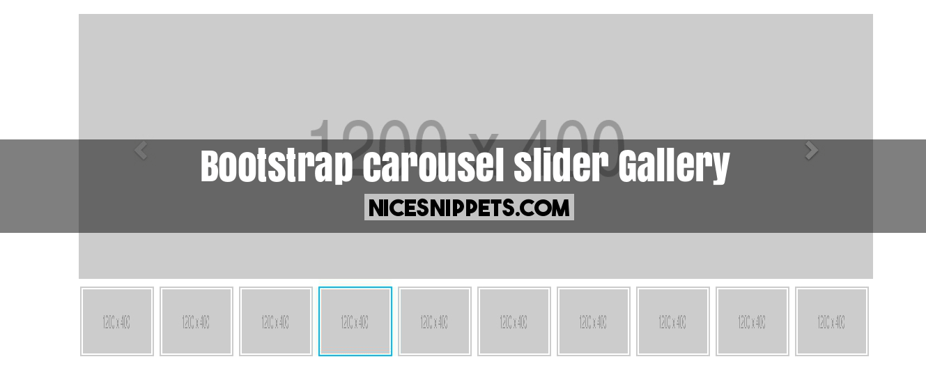 Bootstrap carousel slider with thumbnail image gallery