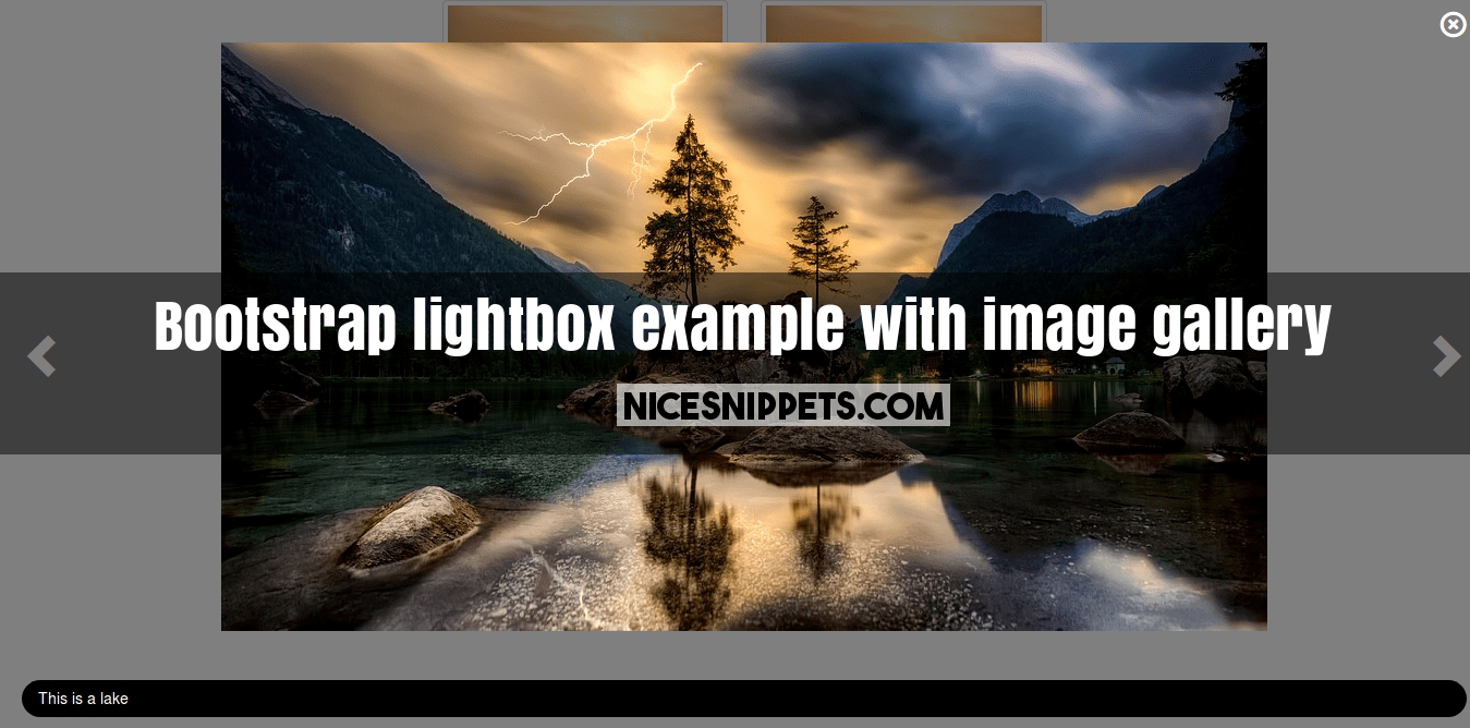 Bootstrap lightbox example with image gallery