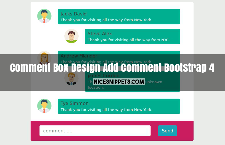 Comment Box Design with Add Comment Usign Bootstrap 4