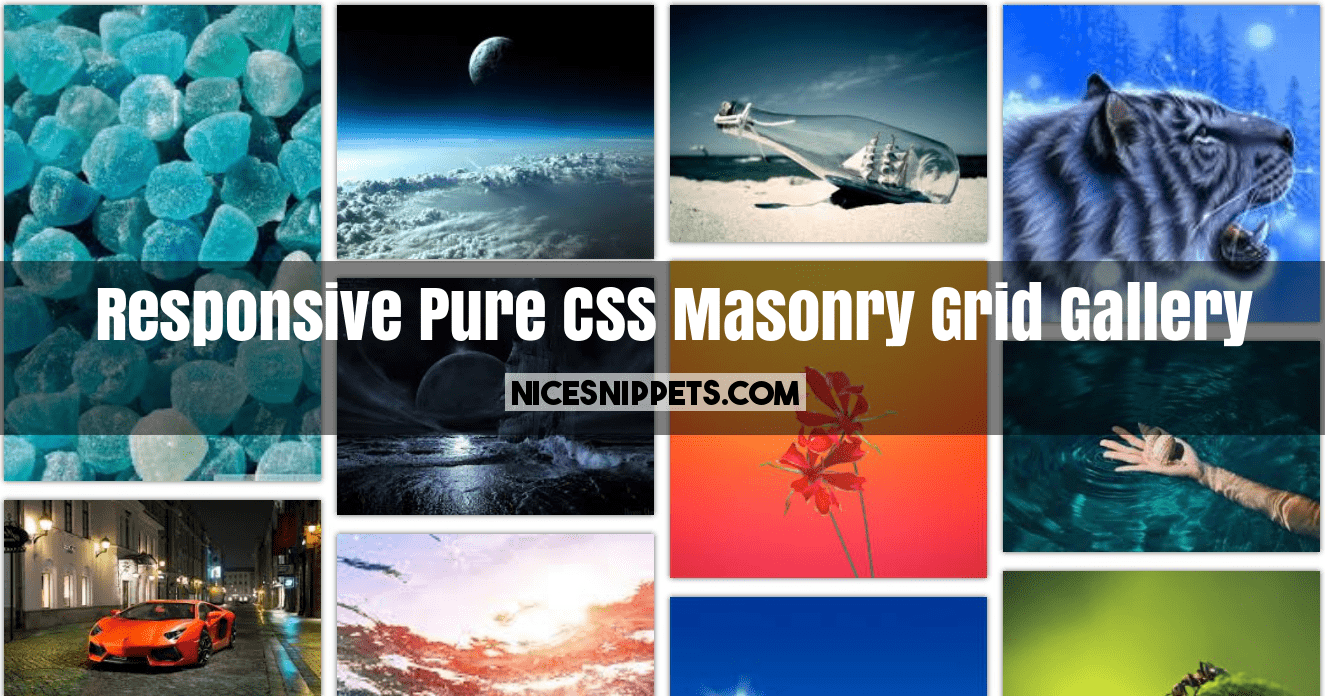 CSS Image Gallery Examples That You Can Use on Your Site | 696x1325