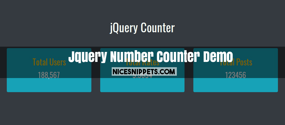 Jquery Number Counter Demo With Counterup and Bootstrap