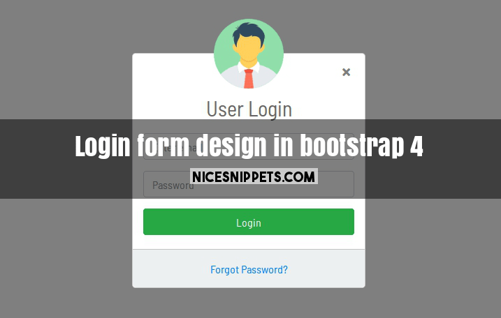 login form design in bootstrap 4 modal usign html and css