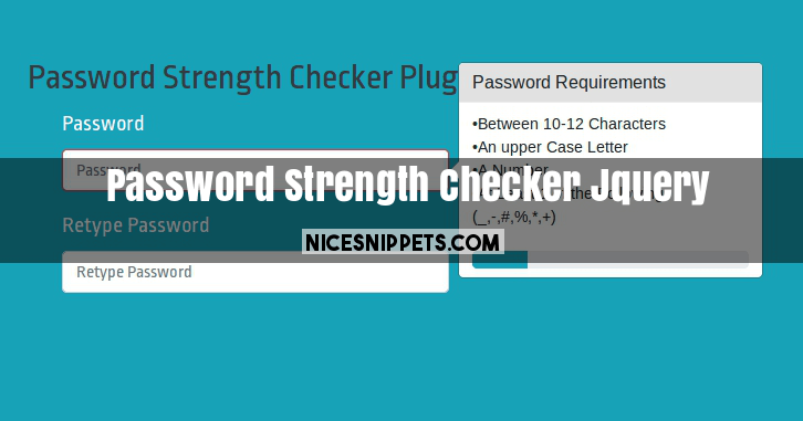 Password Strength Checker Jquery Bootstrap Example with Demo