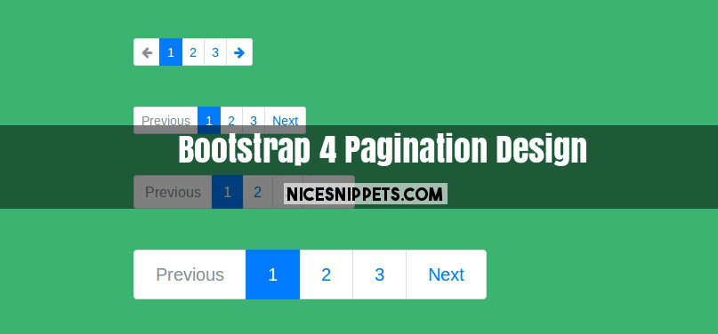 Simple Bootstrap 4 Pagination Design