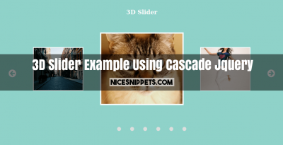 3D Slider Example Using Cascade Jquery